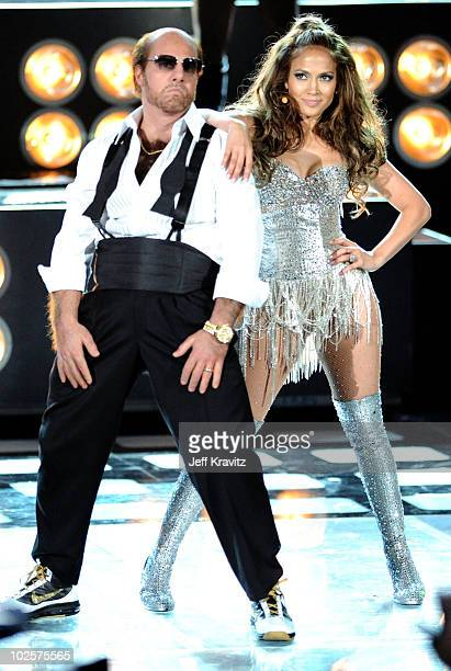 Tom Cruise and Jennifer Lopez perform onstage at the 2010 MTV Movie Awards at Gibson Amphitheatre on June 6 2010 in Universal City California