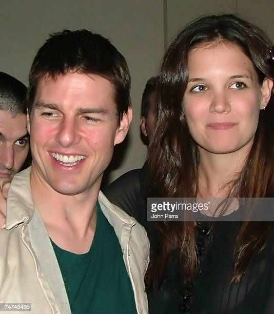 Tom Cruise and Katie Holmes at the Bank Atlantic Center in Sunrise Florida