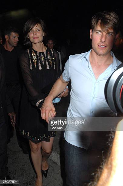 Tom Cruise and Katie Holmes attend the Clara Morgan Party At The VIP Room on Aug 03, 2007 in St Tropez, France.