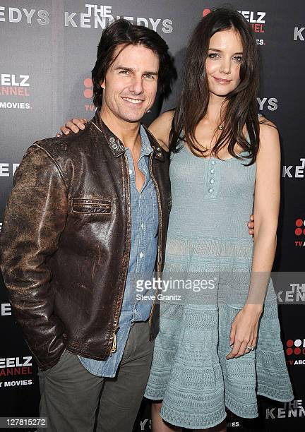Tom Cruise and Katie Holmes attends The Kennedys World Premiere at AMPAS Samuel Goldwyn Theater on March 28 2011 in Beverly Hills California