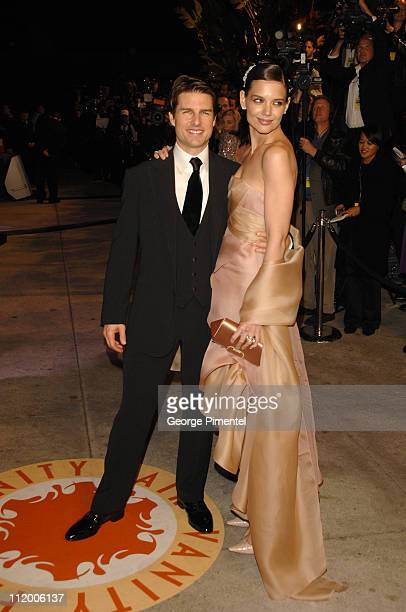 Tom Cruise and Katie Holmes during 2007 Vanity Fair Oscar Party Hosted by Graydon Carter Arrivals at Mortons in West Hollywood California United...