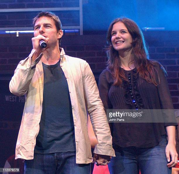Tom Cruise and Katie Holmes during Y1007 Jingle Ball 2005 Show at Bank Atlantic Center in Sunrise Florida United States