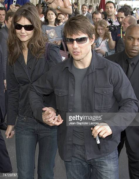 Tom Cruise and Katie Holmes in Paris France