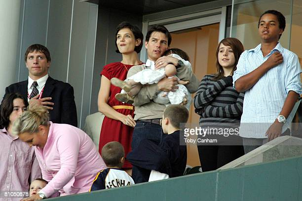 Tom Cruise and Katie Holmes with daughters Suri Cruise and Isabella KidmanCruise and son Connor KidmanCruise with David Beckham's sons Brooklyn Romeo...