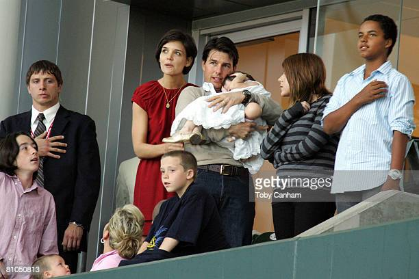 Tom Cruise and Katie Holmes with daughters Suri Cruise Isabella KidmanCruise and son Connor KidmanCruise with David Beckham's sons Brooklyn Beckham...