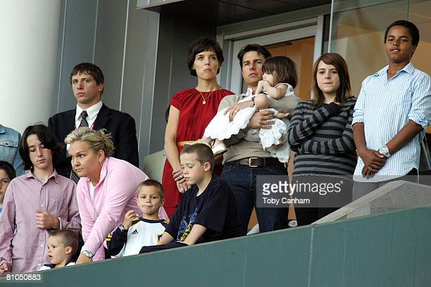 Tom Cruise and Katie Holmes with daughters Suri Cruise Isabella KidmanCruise and son Connor KidmanCruise with David Beckham's sons Brooklyn Romeo and...