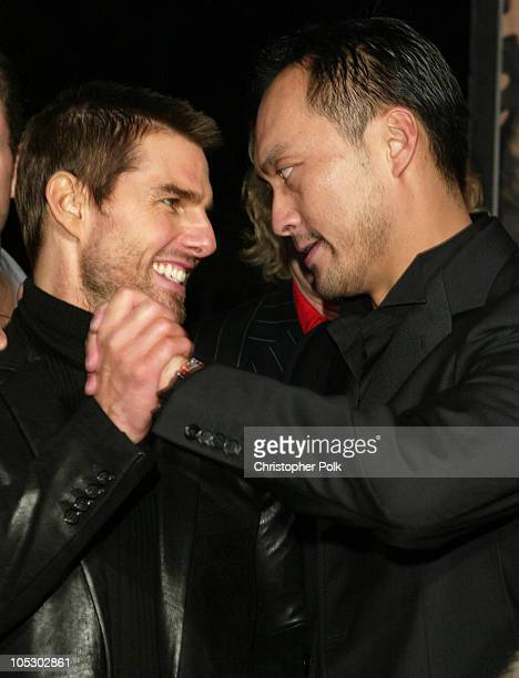 Tom Cruise and Ken Watanabe during 'The Last Samurai' Los Angeles Premiere at Mann's Village Theater in Westwood California United States
