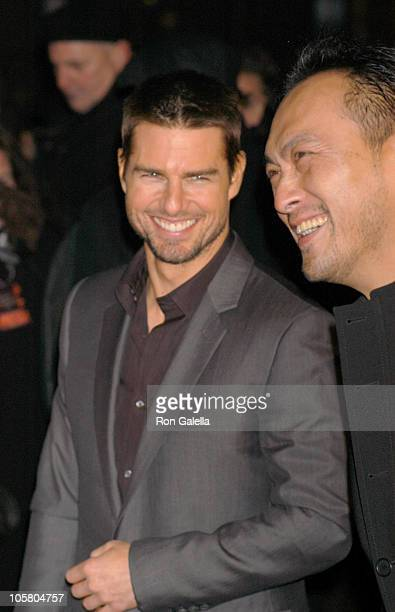 """Tom Cruise and Ken Watanabe during """"The Last Samurai"""" - New York Premiere - Outside Arrivals at The Zeigfield Theater in New York City, New York,..."""