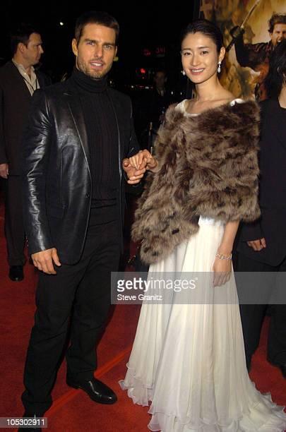 "Tom Cruise and Koyuki during ""The Last Samurai"" Los Angeles Premiere at Mann Village Theatre in Westwood, California, United States."