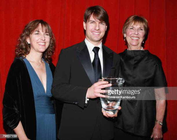 Tom Cruise and Mary Lee Mapother pose back stage at the 3rd Annual Museum of the Moving Image Black Tie Salute Honoring Tom Cruise at Cipriani's 42nd...