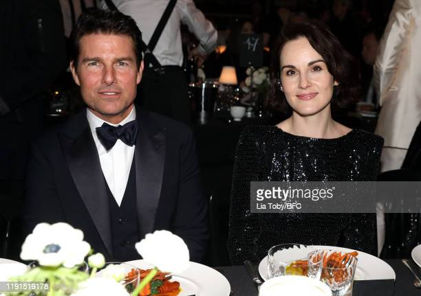 Tom Cruise and Michelle Dockery during The Fashion Awards 2019 held at Royal Albert Hall on December 02 2019 in London England