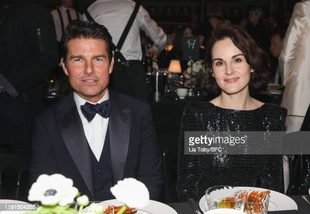 Tom Cruise and Michelle Dockery during the VIP dinner at The Fashion Awards 2019 held at Royal Albert Hall on December 02 2019 in London England