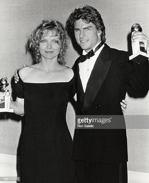 Tom Cruise and Michelle Pfeiffer during The 47th Annual Golden Globe Awards at The Beverly Hilton Hotel in Beverly Hills California United States