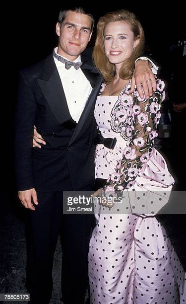 Tom Cruise and Mimi Rogers at the Shrine Auditorium in Los Angeles, California