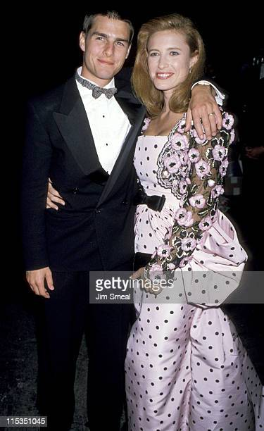 Tom Cruise and Mimi Rogers during 61st Annual Academy Awards Arrivals at Shrine Auditorium in Los Angeles California United States