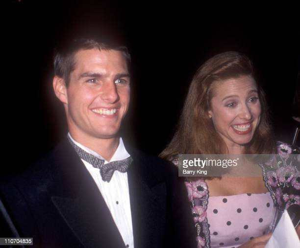 Tom Cruise and Mimi Rogers during 61st Annual Academy Awards Governor's Ball at Shrine Auditorium in Los Angeles California United States