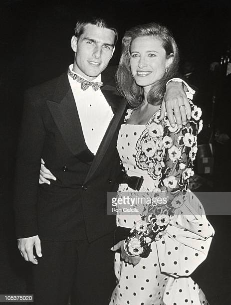 Tom Cruise and Mimi Rogers during Swifty Lazar's Post Oscar Party at Spago's Restaurant in Hollywood, California, United States.