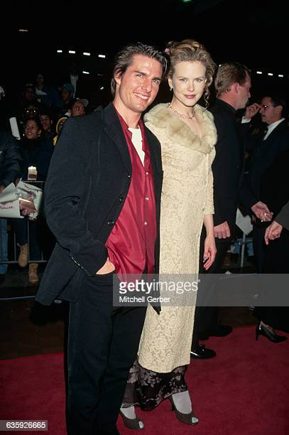 Tom Cruise and Nicole Kidman attend the premiere of the motion picture Jerry Maguire in New York