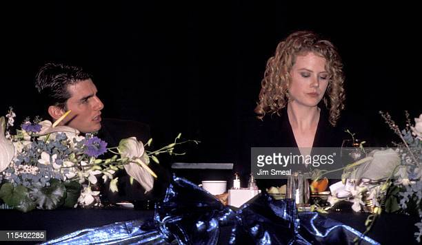 Tom Cruise and Nicole Kidman during 1992 NATO ShoWest Convention at Bally's Hotel in Las Vegas Nevada United States