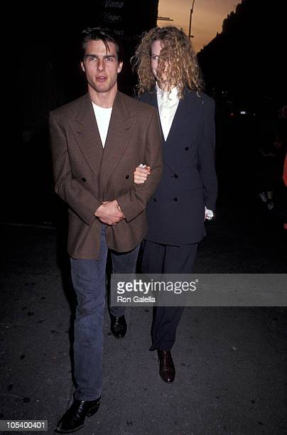 Tom Cruise and Nicole Kidman during Opening of 'Guys And Dolls' at Martin Beck Theater in New York City New York United States