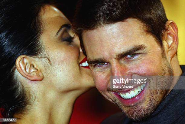 Tom Cruise and Penelope Cruz arrive for the UK Premiere of 'The Last Samurai' at the Odeon Leicester Square on January 6 2004 in London It was...