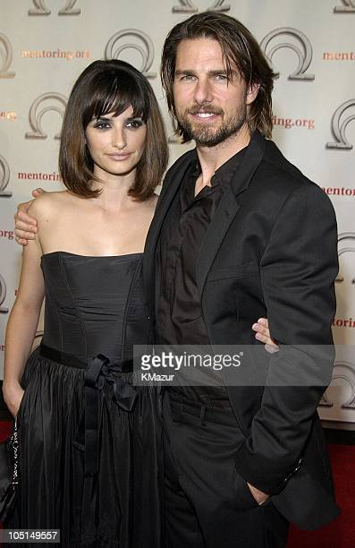 Tom Cruise and Penelope Cruz during MENTORNational Mentoring Partnership Excellence in Mentoring Awards at Pier 60 Chelsea Piers in New York City New...