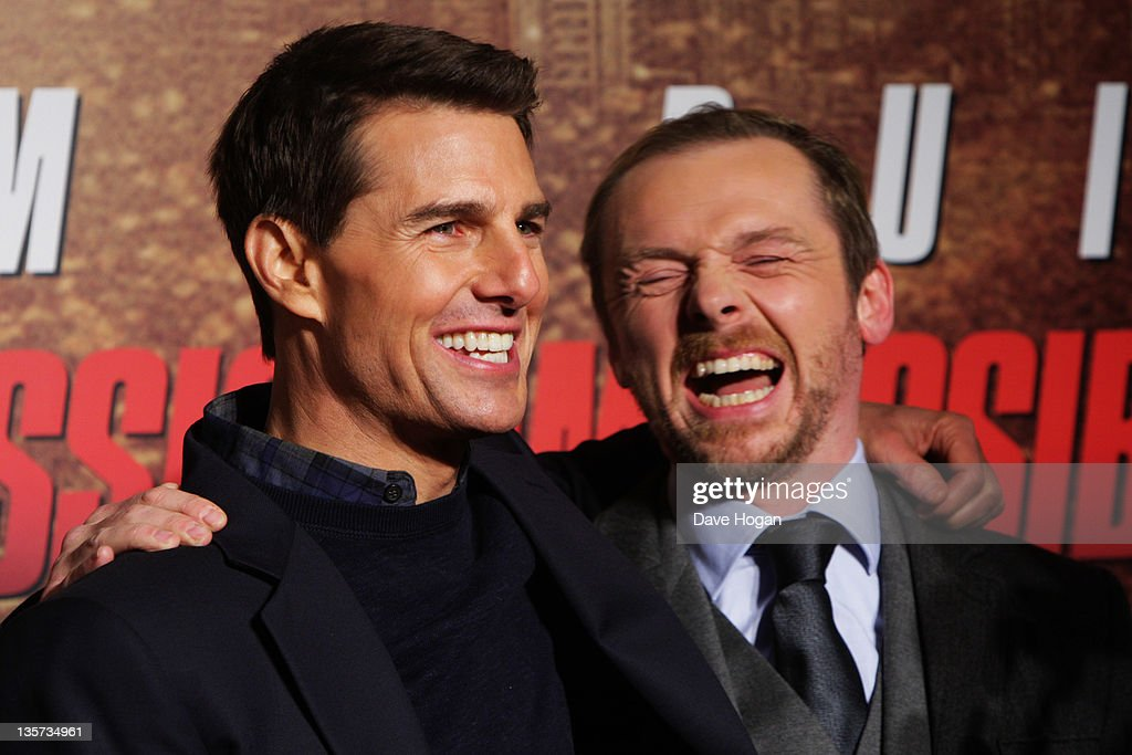 L-R Tom Cruise and Simon Pegg attend the UK Premiere of Mission: Impossible Ghost Protocol at The BFI IMAX on December 13, 2011 in London, United Kingdom.