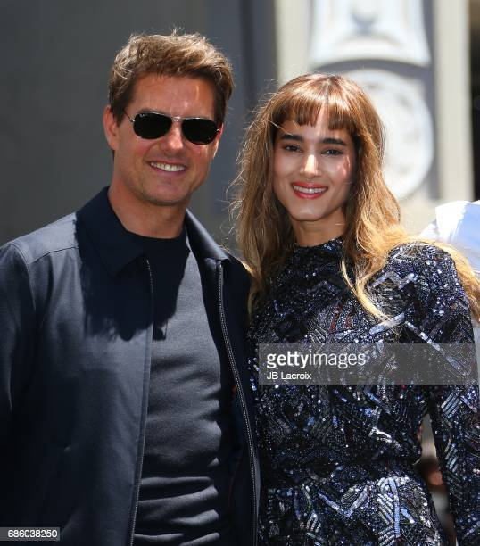 Tom Cruise and Sofia Boutella attend Universal Celebrates 'The Mummy Day' With 75Foot Sarcophagus Takeover at Hollywood And Highland on May 20 2017...