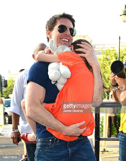 Tom Cruise and Suri Cruise arrive to Chelsea Piers on July 17 2012 in New York City