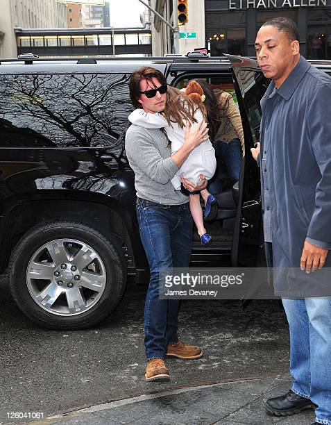Tom Cruise and Suri Cruise arrive to Dylan's Candy Bar on April 13 2011 in New York City