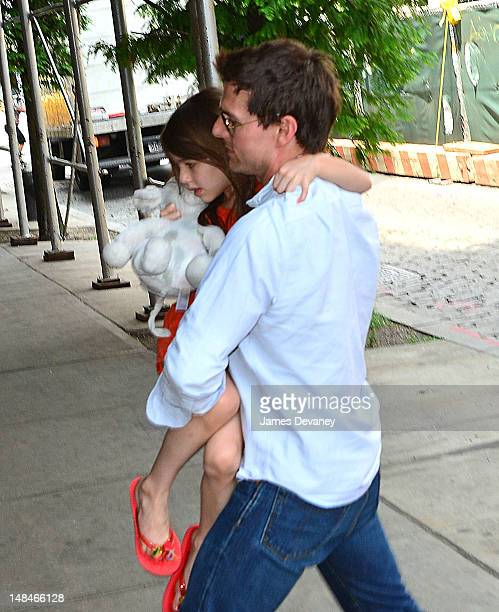 Tom Cruise and Suri Cruise seen on the Streets of Manhattan on July 17 2012 in New York City
