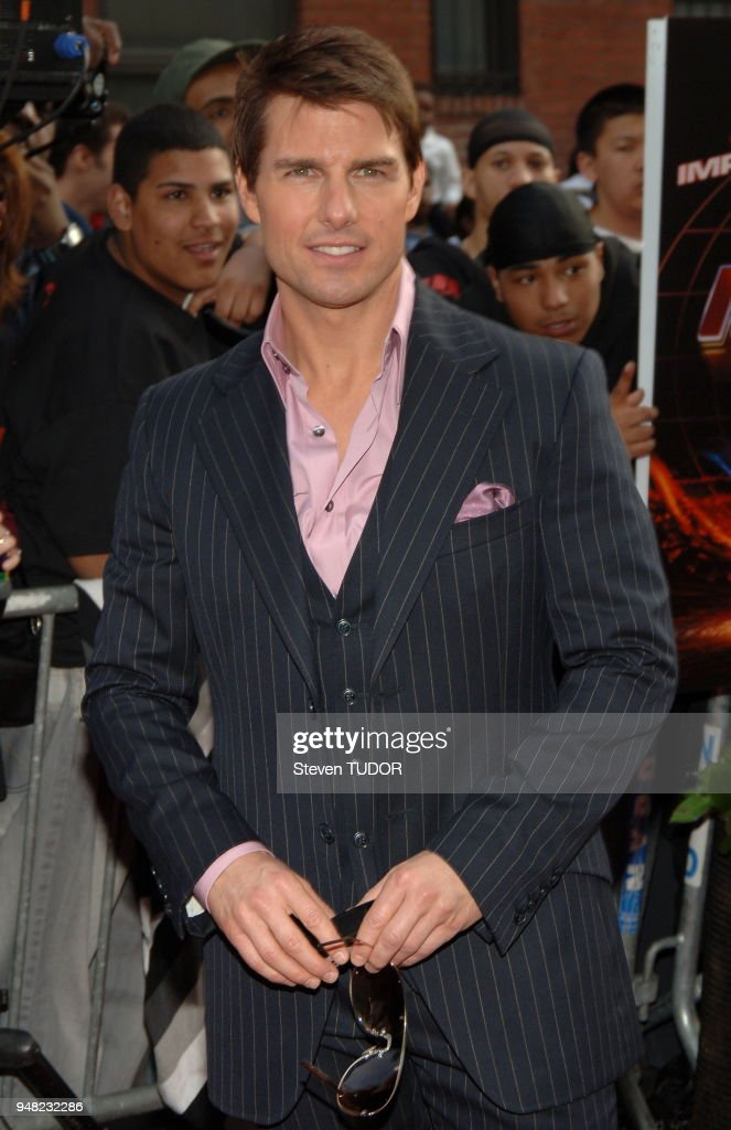 Tom Cruise arrives at Premiere of 'Mission: Impossible 3', held at