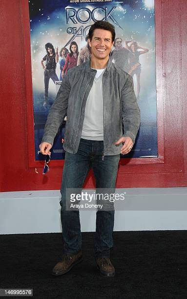Tom Cruise arrives at the Los Angeles premiere of Rock Of Ages at Grauman's Chinese Theatre on June 8 2012 in Hollywood California