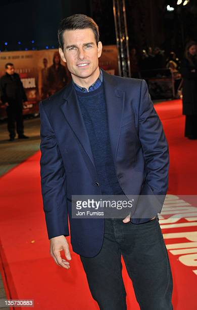 Tom Cruise arrives at the Mission Impossible Ghost Protocol Premiere at BFI IMAX on December 13 2011 in London England