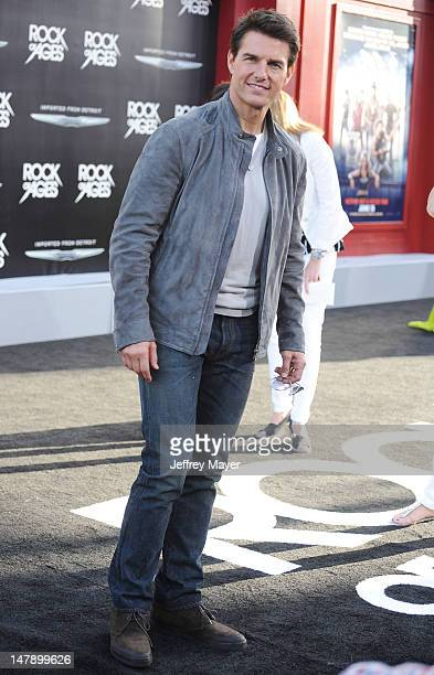 Tom Cruise arrives at the 'Rock Of Ages' Los Angeles Premiere at Grauman's Chinese Theatre on June 8 2012 in Hollywood California