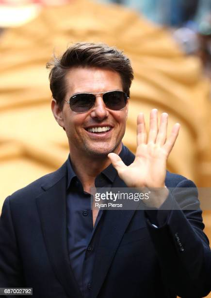 Tom Cruise arrives during a photo call for The Mummy at World Square on May 23 2017 in Sydney Australia
