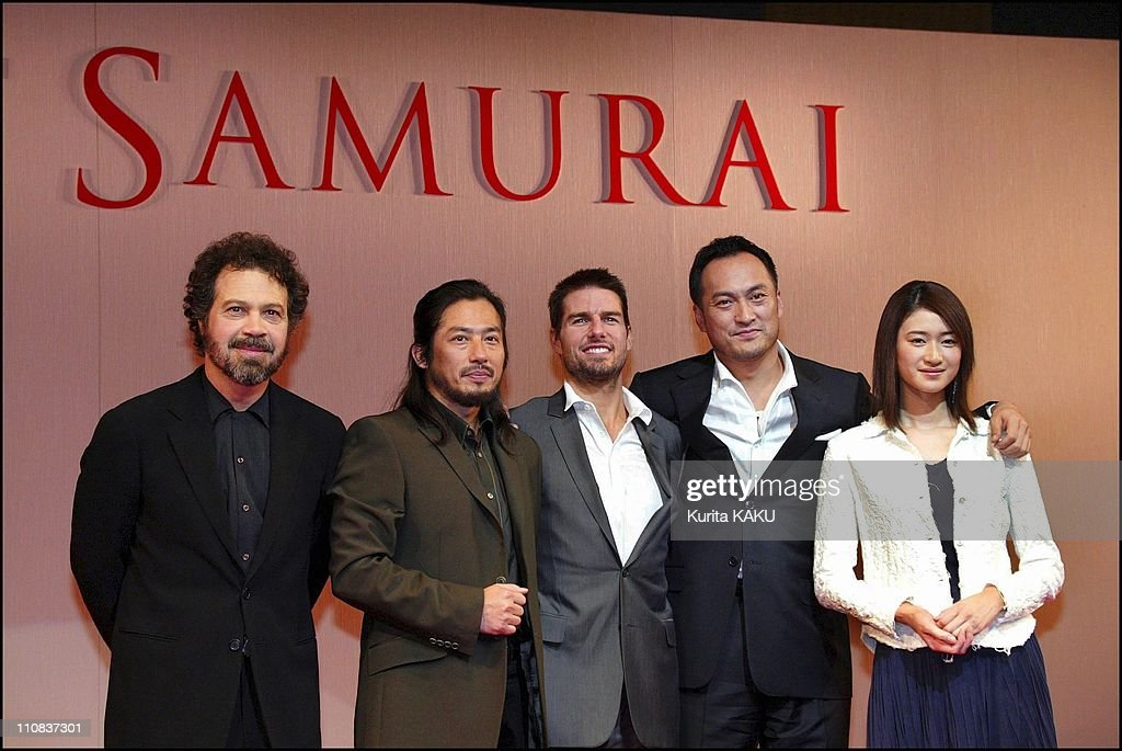 "Tom Cruise At A Press Conference On His New Film ""The Last Samurai"" In Tokyo, Japan On November 20, 2003 : Foto jornalística"