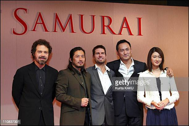 Tom Cruise At A Press Conference On His New Film The Last Samurai In Tokyo Japan On November 20 2003 Casts and the director of new film 'The Last...