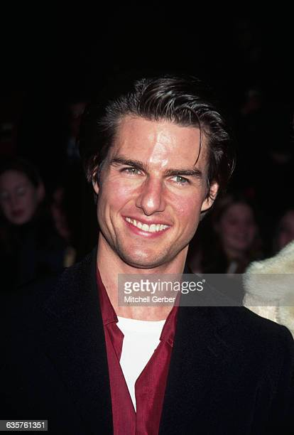 Tom Cruise at the premiere of Jerry Maguire