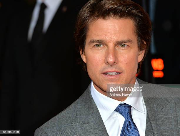 Tom Cruise attends an exclusive screening of Mission Impossible Rogue Nation at BFI IMAX on July 25 2015 in London England