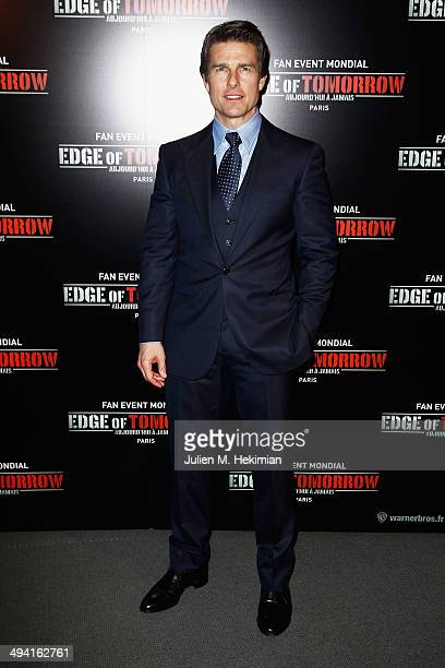 Tom Cruise attends 'Edge Of Tomorrow' Photocall at Cinema UGC Normandie on May 28 2014 in Paris France