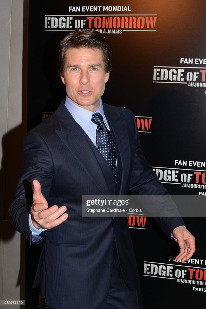 Tom Cruise attends 'Edge Of Tomorrow' Photocall at Cinema UGC Normandie on May 28, 2014 in Paris.