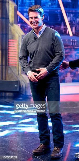 Tom Cruise attends El Hormiguero Tv show at Vertice Studio on December 13 2012 in Madrid Spain