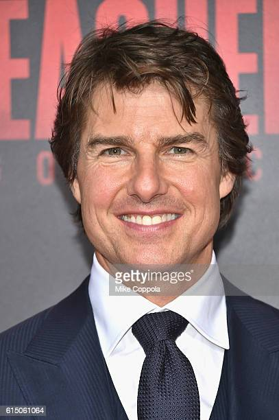 Tom Cruise attends the 'Jack Reacher Never Go Back' Fan Screening at AMC Elmwood Palace 20 on October 16 2016 in Harahan Louisiana