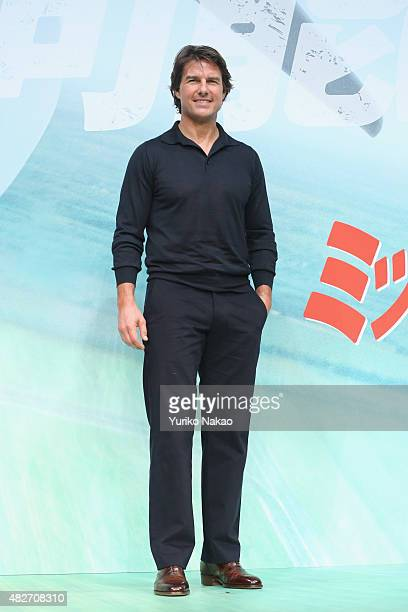 Tom Cruise attends the Japan Press Conference of 'Mission Impossible Rogue Nation' at the Peninsula Hotel Ballroom on August 2 2015 in Tokyo Japan