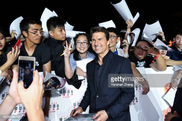 Tom Cruise attends the 'Mission Impossible Fallout' China Premiere at The Ancestral Temple on August 29 2018 in Beijing