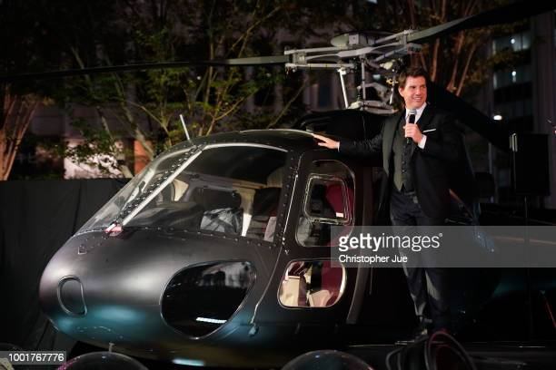 Tom Cruise attends the 'Mission Impossible Fallout' Premiere at TOHO Cinemas Hibiya on July 18 2018 in Tokyo