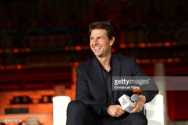 Tom Cruise attends the 'Mission Impossible Fallout' Press Conference at The Ancestral Temple on August 29 2018 in Beijing