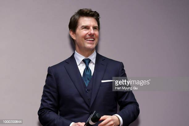 Tom Cruise attends the 'Mission Impossible Fallout' Seoul Premiere at Lotte World Mall on July 16 2018 in Seoul South Korea