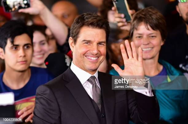 Tom Cruise attends the 'Mission Impossible Fallout' US Premiere at Lockheed Martin IMAX Theater at the Smithsonian National Air Space Museum on July...